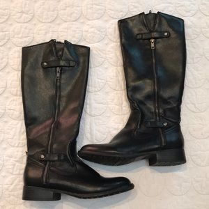 {Lifestride} Soft System Black Vegan Boots 7.5 M